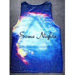Blue Some Nights Galaxy Universe Stars Net Sleeveless Mens T-shirt Vest Sports Tank Top