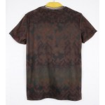 Brown Fierce Skull Short Sleeves Mens T-Shirt