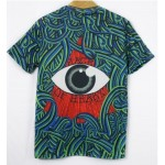 Blue Bloody Totem Triangle Eyes Short Sleeves Mens T-Shirt