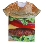 Brown Big Mac Hamburger Short Sleeves Mens T-Shirt
