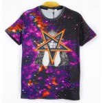 Purple Rainbow Stars Galaxy Universe Short Sleeves Mens T-Shirt