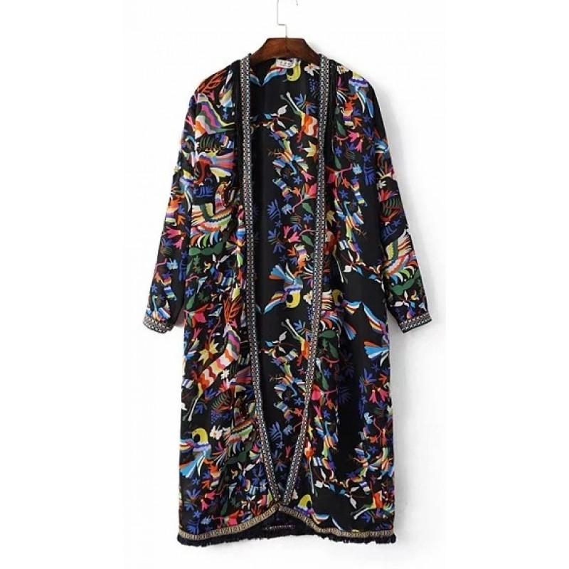 Black Mens Kimono