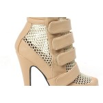 Khaki Sexy Platforms Sneakers High Stiletto Heels Boots Shoes