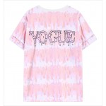 Pink Rainbow Galaxy Harajuku Weird Creeper Vouge Short Sleeves T Shirt