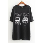 White Black Karl and Anne Comic Short Sleeves T Shirt