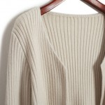 Cream Knitted Long Sleeves Cropped Cardigan Outer Jacket