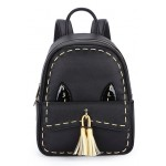 Black Burgundy Red Cat Tassels Gothic Punk Rock Backpack