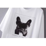 White Black Pug French Bull Dog Short Sleeves T Shirt