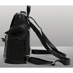 Black Giant Zipper Canvas Drawstring School Funky Bag Backpack