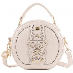 Pink Black Cream Butterfly Round Shape Vintage Cross Body Strap Jewellery Bag Handbag