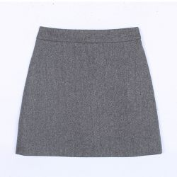 Grey Burgundy Black Woolen Bodycon A Line Mini Skirt