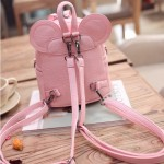 Pink White Bow Mouse Ears Mini Backpack Cross Body Bag