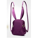 Black White Red Purple Canvas Long Ear Rabbit Head Backpack Bag