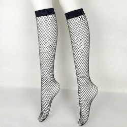Black Big Fish Net Fishnet Lolita Punk Rock Gothic Long Knee Socks