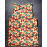 Yellow Red Green Gummies Candy Net Sleeveless Mens T-shirt Vest Sports Tank Top