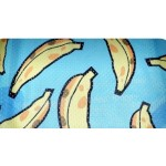 Blue Yellow Funky Banana Cartoon Net Sleeveless Mens T-shirt Vest Sports Tank Top