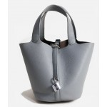 Orange Blue Khaki Blue Padlock Lambskin Bucket Bag Handbag Purse