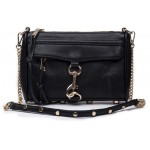 Black White and Various Color Gold Studs Lock Cross Body Strap Bag Handbag Clutches