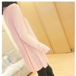 Pink Baby Long Sleeves Knit Thin Cardigan Outer Jacket