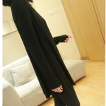 Black Long Sleeves Knit Thin Cardigan Outer Jacket
