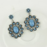 Blue Vintage Gemstones Bohemian Earrings Ear Drops