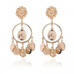 Gold Coins Bohemian Boho Ethnic Glamorous Earrings Ear Drops
