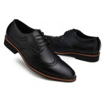 Black Vintage Leather Lace Up Mens Oxfords Flats Dress Shoes