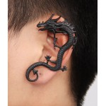 Black Bronze Punk Rock Gothic Earrings Ear Bone Cling