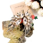 Gold Diamante Fancy Glamorous Wings Earrings