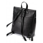 Black Square Soft Lambskin Vintage School Punk Rock Bag Mini Backpack