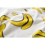 White Yellow Bananas Cartoon Long Sleeve Sweatshirts Tops