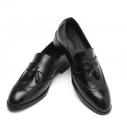 Black Tassels Croc Mens Loafers Dress Dapper Man Shoes Flats
