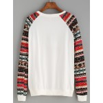 White Red Polar Bear Snow Flakes Long Sleeves Pullover Sweatshirt