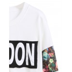 White London Floral Arm Patchwork Sweatshirt