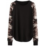 Black Camouflage Military Army Long Sleeve Sweatshirt