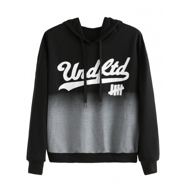 Black Funky Old School Hoodie Hooded Sweatshirt