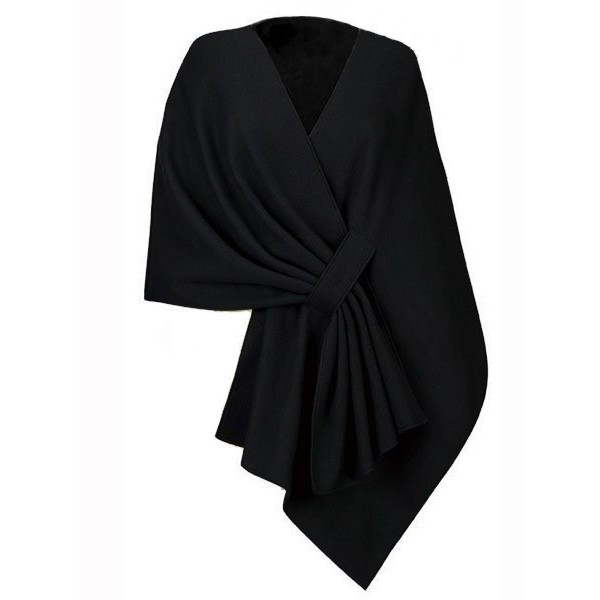 Black Stylish Warpping Cardigan Outer Wear Coat