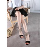 Black Suede Gold Ankle Rhinestiones Diamote Gladiator Wedding High Stiletto Heels Pumps Sandals Shoes