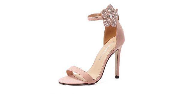 Pink suede ankle rhinestones diamonte flower high stiletto heels pink suede ankle rhinestones diamonte flower high stiletto heels pump sandals shoes mightylinksfo