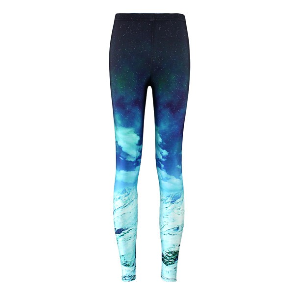 Blue Universe Galaxy Iceberg Yoga Fitness Leggings Tights Pants