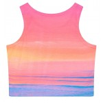 Pink Sun Set Dawn Sleeveless T Shirt Cami Tank Top