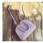 Purple White Black Blue Mini Shell Alma Boston Doctor Handbag Cross Body Strap Bag