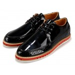 Black Glossy Patent Leather Lace Up Mens Classy Oxfords Dresss Shoes