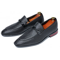 Black Bow Dapperman Oxfords Business Mens Loafers Flats Dress Shoes