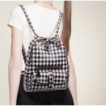 Black White Houndstooth Checkers Gothic Punk Rock Backpack