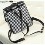 Black White Old School Vintage Houndstooth Checkers Gothic Punk Rock Backpack