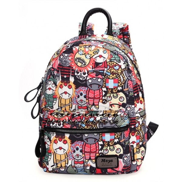 Colorful Cartoon Comic Vampires Punk Rock Backpack