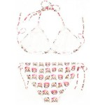 White Whatsapp Monkeys Emoji Cartoon Two Piece Sexy BIkini Swimwear