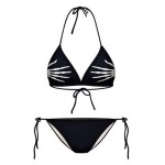 Black Skeleton Hands Punk Rock Two Piece Sexy BIkini Swimwear