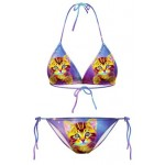 Purple Galaxy Universe Cats Two Piece Sexy BIkini Swimwear